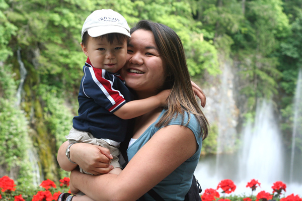 Caleb and Mommy
