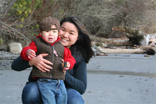 Caleb and Mommy at East Sooke Park