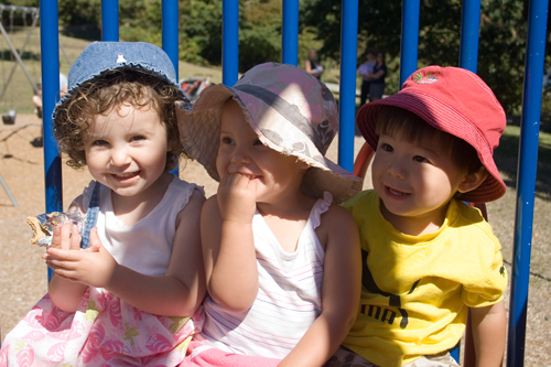 Keira, Olivia and Caleb - long time buddies