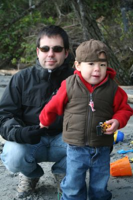 Caleb and Daddy at East Sooke Park