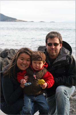 A cold family at East Sooke Park