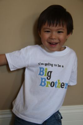 I`m going to be a BIG BROTHER!
