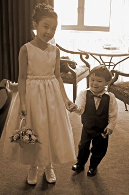 The cutest ring bearer and flowergirl
